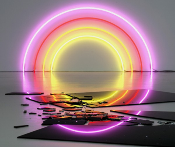 Neon Lighting Against Dark Space (2)