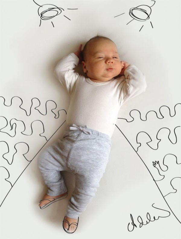 Cute and Creative Baby Illustrations by Adele Enersen (1)